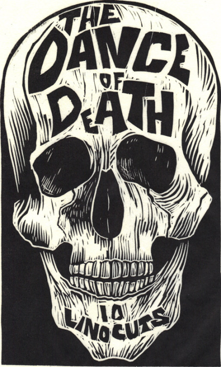 "andreirobu:  Designersgotoheaven.com - ""The Dance of Death"" Linocut by Kreg Yingst. (via 50 Watts)"
