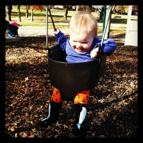 Swinging. #baby #playground #localscenery #parks
