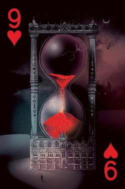 the 9 of hearts, for the third black rock collective card deck. buy it here!