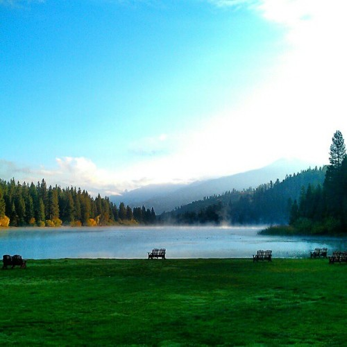 The #sunrise this morning at #camp (at Hume Lake Christian Camps Office)