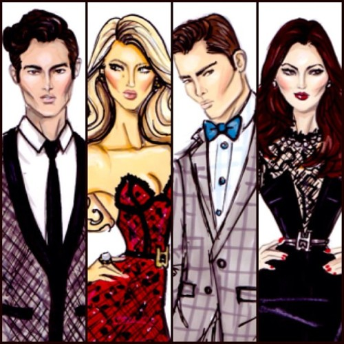 haydenwilliamsillustrations:  XOXO Gossip Girl by Hayden Williams
