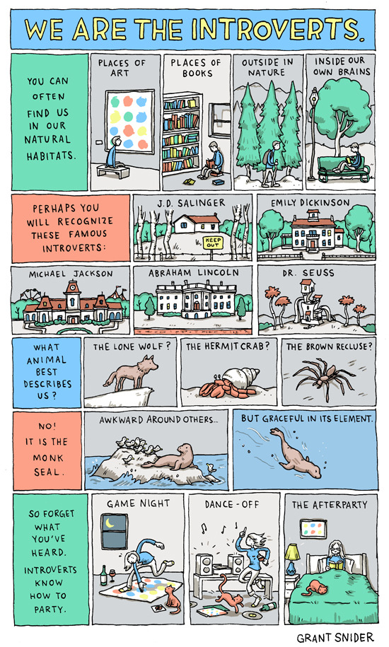 drawnblog:  We Are the Introverts by Grant Snider