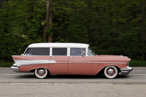 1957 Chevy Bel Air Station Wagon by polara 64 on Flickr.