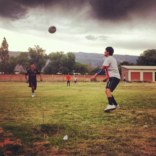 Instead of watching Sunday Football, we play Sunday Futbol. #bolivia #futboleslavida