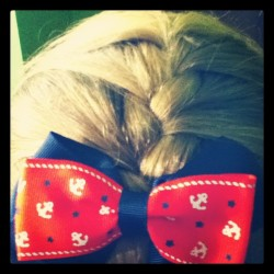 capncourtney182:  Perfect. #hair #anchor #anchors #frenchbraid #blonde