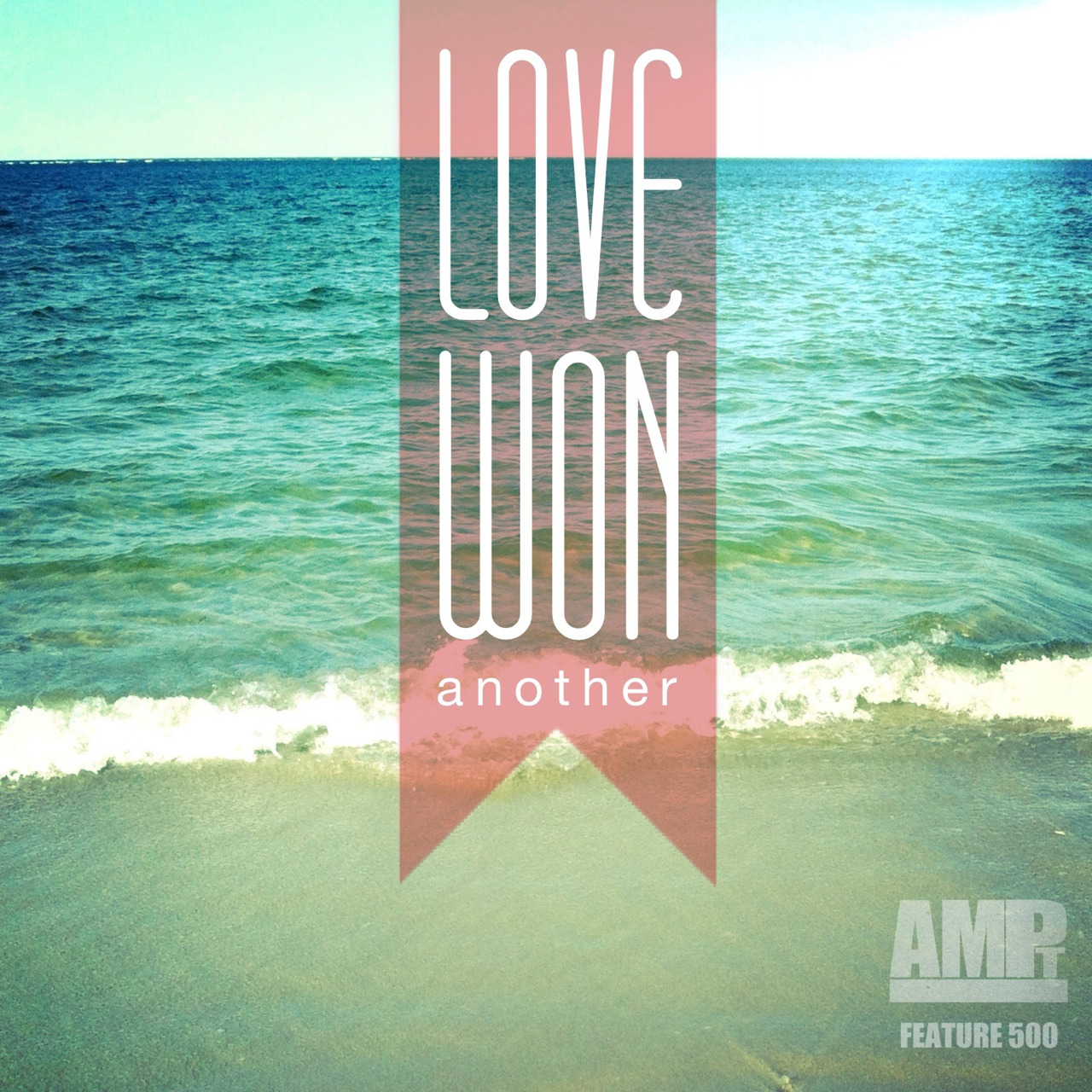 "Feature 500 photo submitted by Sean O'Connor - @seanoconnor  Title: Love Won Another   Process: 1. Upload image into photoforge 2 2. Straighten and crop to square format 3. Slightly increase vibrance, exposure, and contrast 4. Play with levels giving the picture a blue/green tint 5. Resize image to 5MP, save to camera roll 6. Import saved image into lenslight to add artificial lighting to enhance/slightly exaggerate natural lighting, render flare, save to camera roll 7. Open saved photo in picfx, add creek filter on 50% opacity, add marshmallow filter on 50%, save to camera roll 8. Open phonto, (on white background) make ribbon using letters and shapes, save to camera roll 9. Open edited photo as ribbon shape in blender, set blending mode to darken with 50% opacity, save to camera roll 10. Open saved photo in phonto and add text with negative kerning on words ""love"" and ""won"" (typeface- matchbook) and positive kerning on word ""another"" (typeface- helvetica neue), save to camera roll   Bio: I first got into mobile photography and editing shortly after I joined instagram. I saw work from some artists that I was following and I was amazed to find out that they were completely done on an iPhone. With the right combination of creativity and apps, professional quality work is more than possible. I am from Southern California but during the school year I am a student at Massachusetts College of Art and Design studying graphic design.  Lately, I've been super into logos as branding (simplistic and vintage-like to be exact). In the next few years I am going to be starting a company combining my love for design and snowboarding with my growing passion of helping people find God; those poor both physically/financially and spiritually. Anything is possible with the right mindset! Thanks for taking the time to read this guys. Check out my work and keep an eye out for my company which should hopefully be dropping soon."