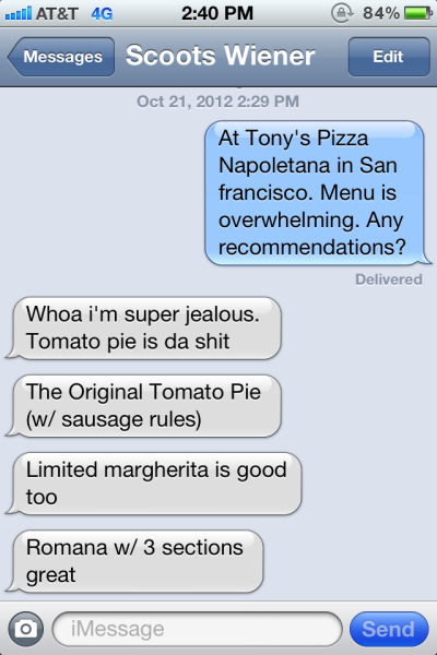 Knowing Scott (of www.scottspizzatours.com) is pretty much the best.