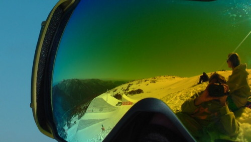 One hit wonder jump through goggles Credit:   Reece Location:   Thredbo