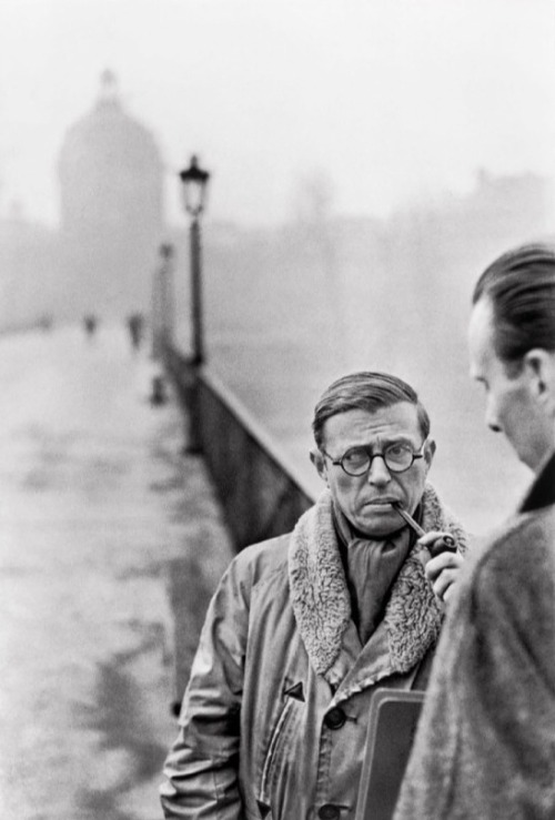 jean-paul sartre  [cartier-bresson]