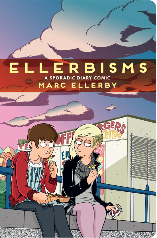 At very long last my autobio graphic novel Ellerbisms is now available for pre-ordering. 5 years in the making, 268 pages, 200+ original strips (rescanned and retouched) 30+ brand new pages specially drawn for this collection, rounded corners (!!!!!) and endless drawings of my face. I'm offering incentives for pre-orders like sketches, mini comics, buttons, original art work (for the first time I am parting with the art from the series and if you know me at all you know how hard that is) and more so why not check out some of the personalised offers available and fill your house with Ellerby paraphernalia. If you don't know what Ellerbisms is about, well, it deals with the small, sometimes funny sometimes sad moments of the day that might not be big or life changing in the big picture of life but are moments we all have and relate to. It's also a relationship told in pictures. It's a love story, one that you've probably gone through yourself or are currently going through. It was a webcomic, some people liked it. I'm very proud of it. It will be out in time for Thought Bubble in Leeds and (hopefully) Comica in London next month. There's a blog post about it right here if you want some more information. I totally 100% think you should buy a copy.