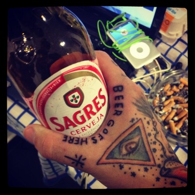 "fuckyeahtattoos:  ""Beer goes here"" Tattoo done by Tyler from MadBass Tattoo - parede, Portugal My tumblr: hatebiiatch.tumblr.com"
