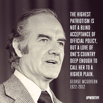 Patriotism by George McGovern