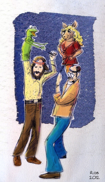 muppetmayhem:  Jim and Frank by ~R0b0C