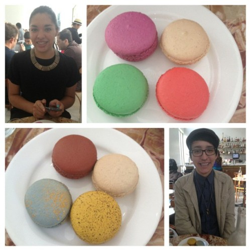 Macaroon virgins! With @epante #food #macaroon (at Bottega Louie)