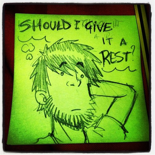 #cut or not?! This is the quest of the week!!! 😵 #postit #postitgram #draw #doodle