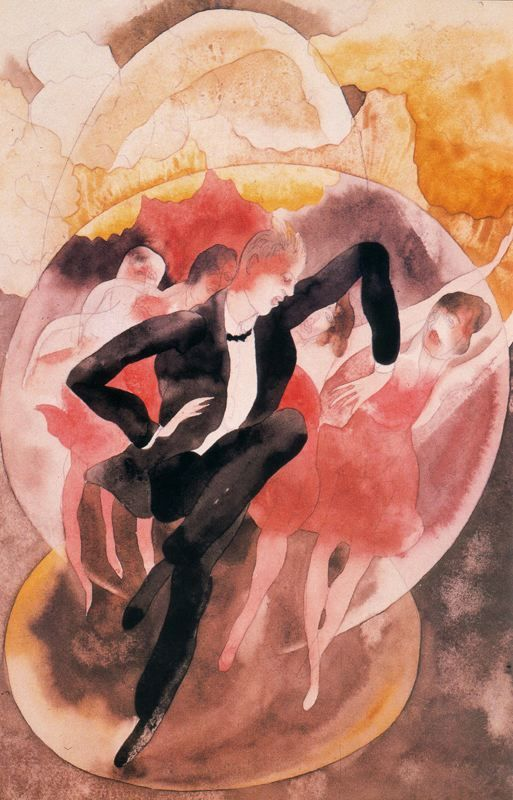 cavetocanvas:  Charles Demuth, In Vaudeville: Dancer with Chorus, 1918