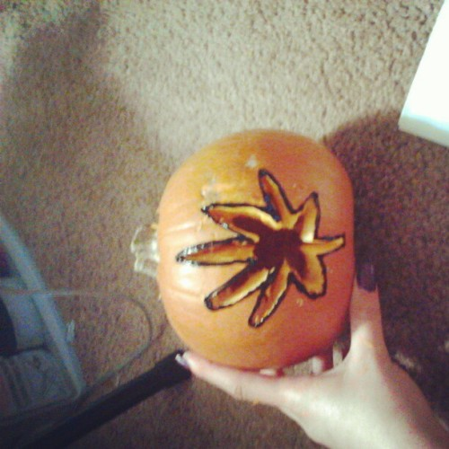 crazybitchintown:  happy halloween stoners :) #pumpkin #carving