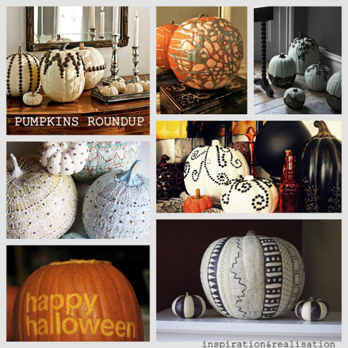 DIY Roundup of Pumpkins Inspiration and Tutorials from inspiration & realisation here. For more pumpkin tutorials go here.