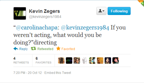 So Kevin Zegers AND Max Bemis replied to my tweets yesterday. My life = complete.