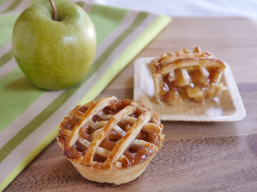 bakeddd:  caramel apple mini pies click here for recipe