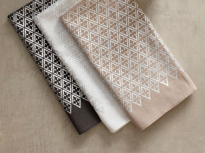[Metallic Diamond Printed Napkin Set by West Elm]