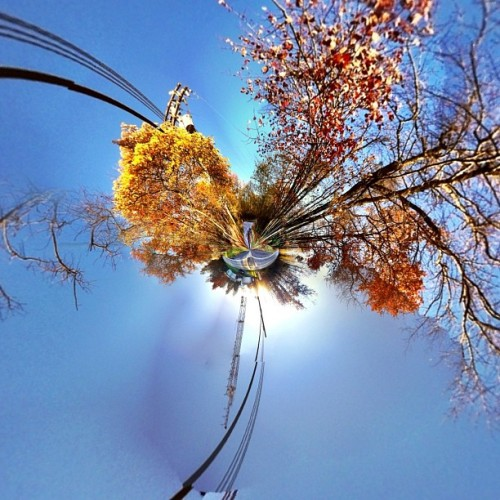 #fall #colors really #tinyplanets #stereographic #frederickmd #md