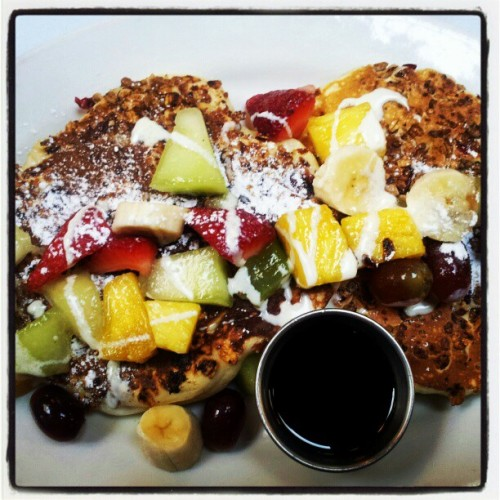 #cheatday granola #pancakes at Brenda's soul food in #SanFrancisco
