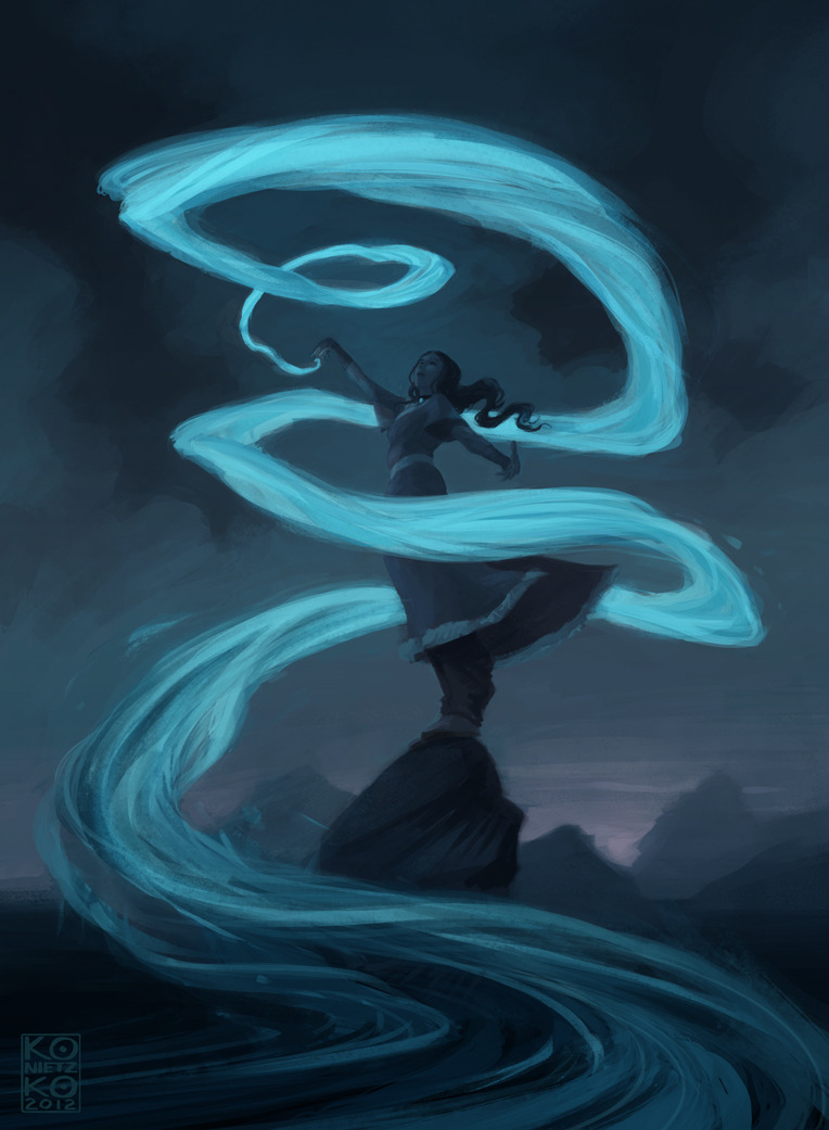 bryankonietzko:  KATARA This piece was inspired by the bewitching and bewildering work of Amei Zhao, aka seventypercentethanol, who consistently blows my mind here on Tumblr. EDIT: Yep. Made a couple tweaks.