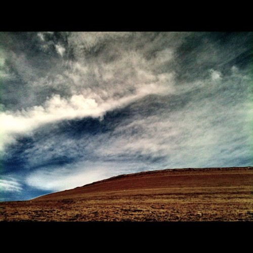 My favorite hillside. #instagram #clouds #sky #wyoming #nature #majestic #instagood #igers #blue #country #bigcountry