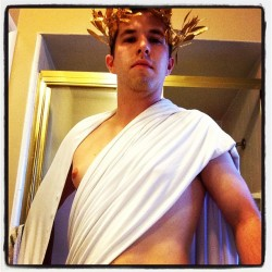 Channeling my inner Greek #halloweensneakpeak #pdt