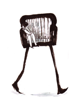 maruti-bitamin:  Couch with legs doodle