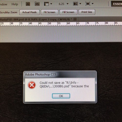 Photoshop is being vague today.