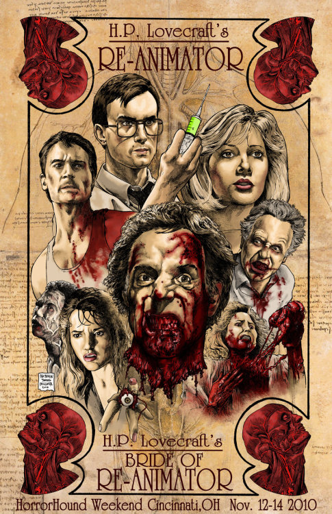 Re-Animator and Bride of Re-Animator by Nathan Milliner