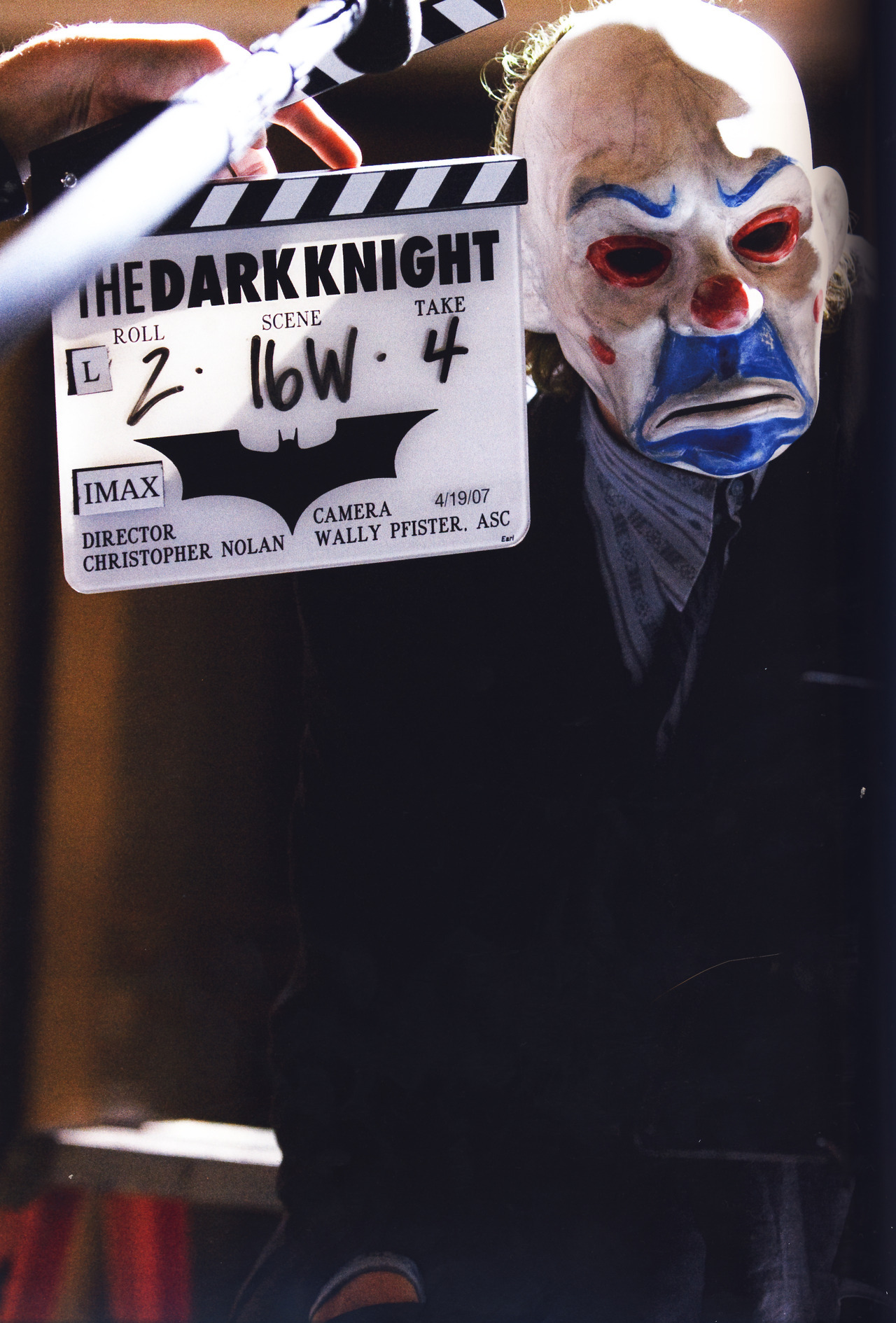 suicideblonde:  Heath Ledger during the filming of The Dark Knight