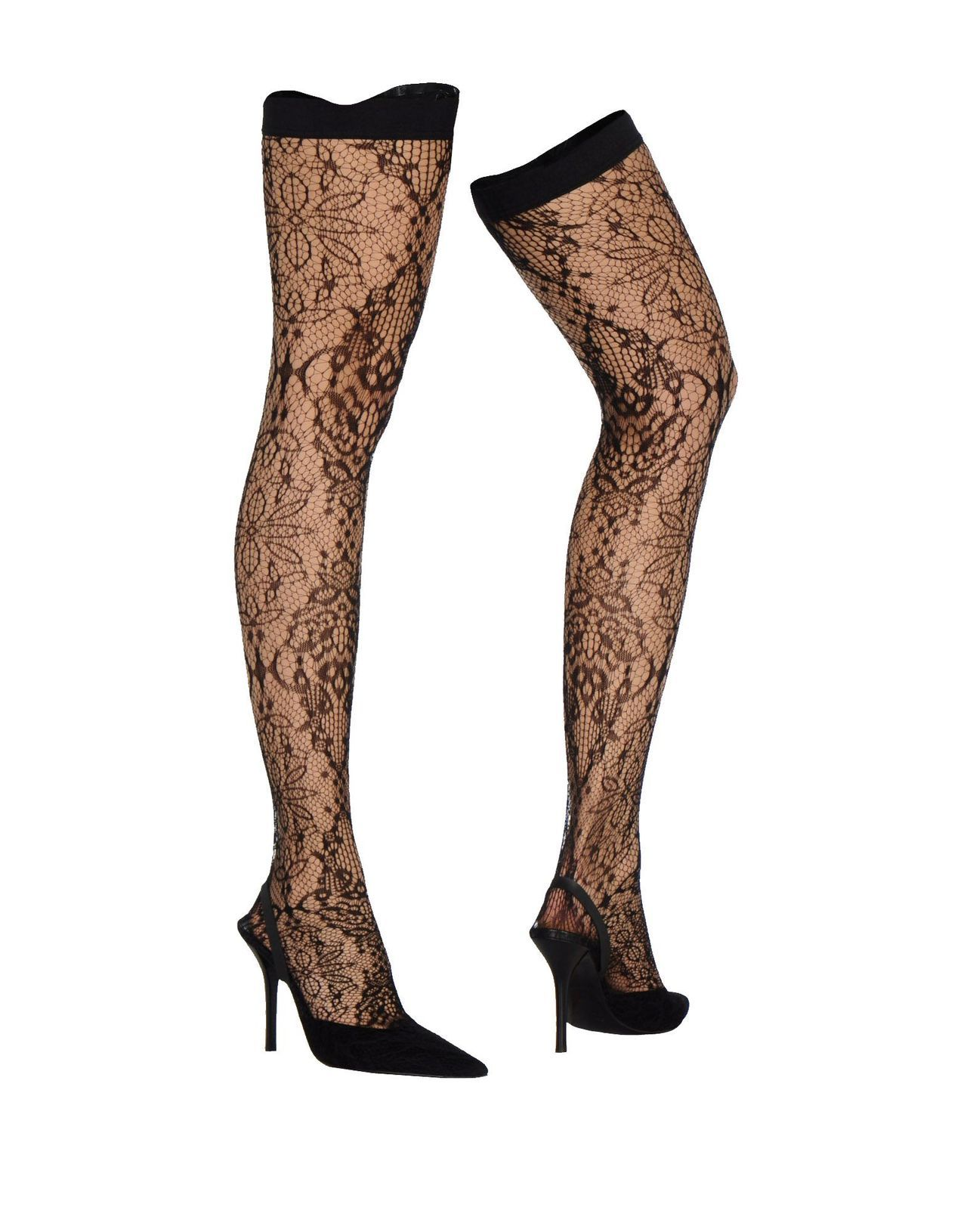 sling back heels with attached lace hosiery • helmut langUS $515