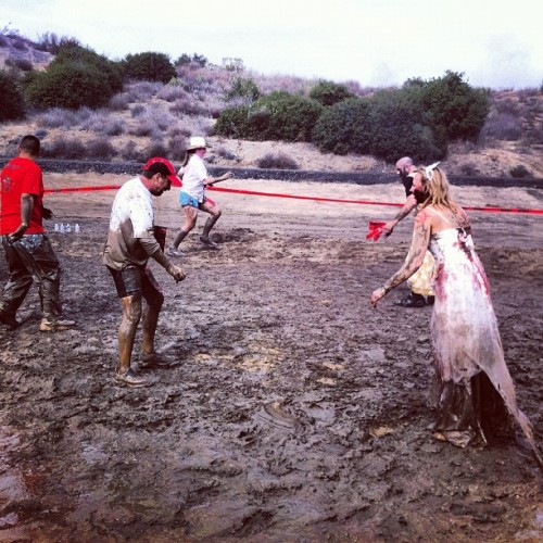 Zombies love mud. #zombie #eddyizm #iphone #temecula #5k