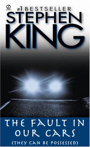 betterbooktitles:  Stephen King: Christine  I hope the John Green fans like this one.