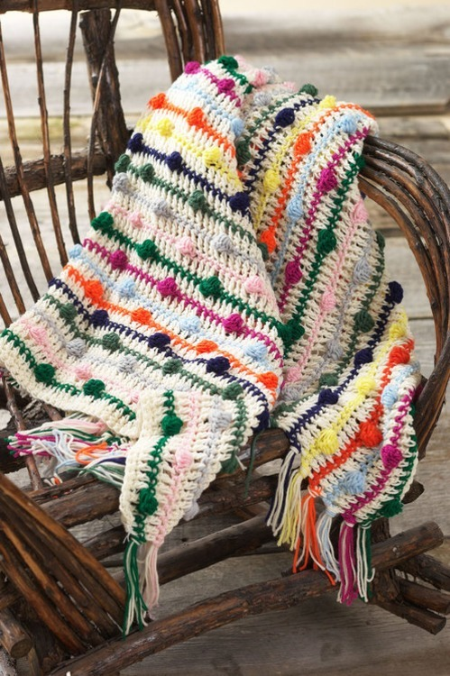 Crocheted Confetti Afghan You can buy the awesome pattern for this from Patternfish.  Nice work!