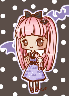 Clockwork Rose Boutique is a brand new indie lolita line being started by my friend and featured in this drawing is the dress she designed. Please visit my friend's facebook like page or her Tumblr.  Only a few days left to purchase it or her other cute items. :)