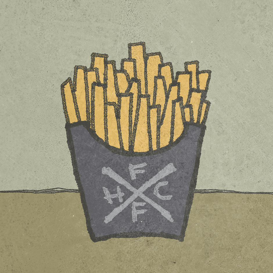 Potatocore. X up in my Society6 shop. (via FRENCH FRY HARDCORE « Josh LaFayette)