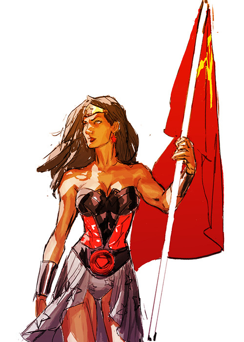 Red Son Wonder Woman by Gerald Parel