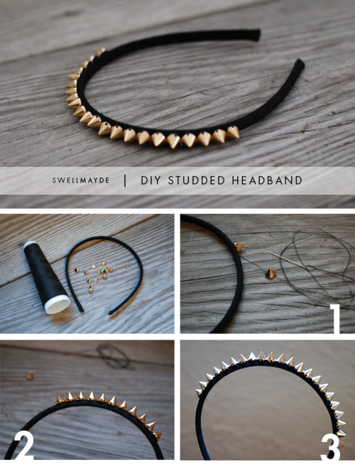 what-do-i-wear:  DIY | STUDDED HEADBAND (image: swellmayde)
