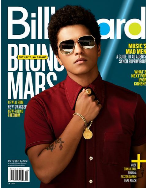 Bruno Mars Gets Sexy Afro on His New Album Cover