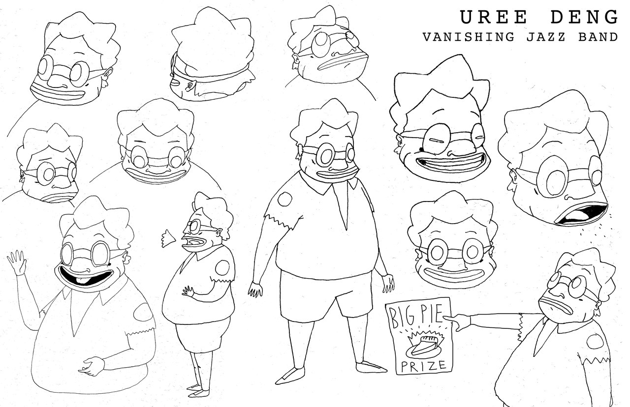 Uree Deng - the first model sheet.