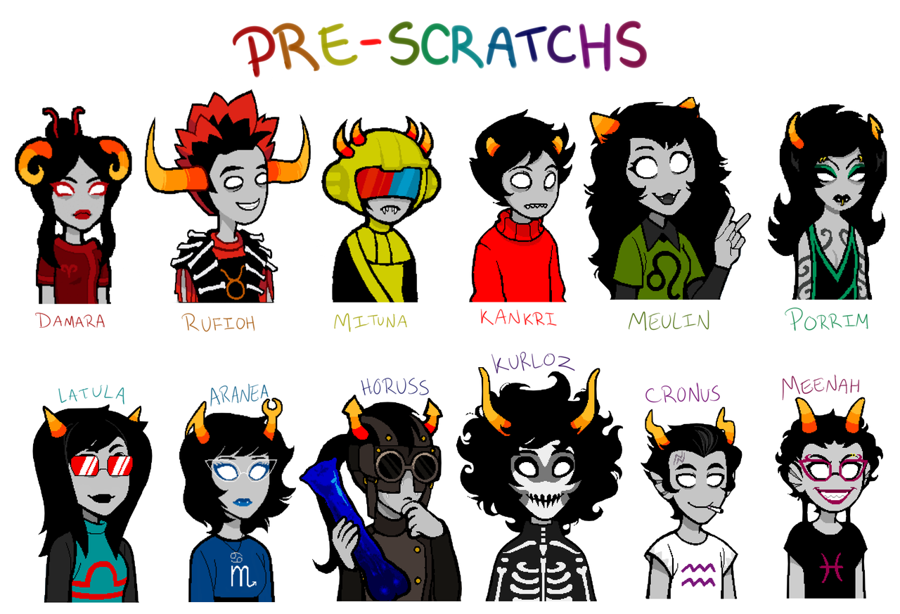 sasuinurpants:  reference I composed of the pre-scratch trolls