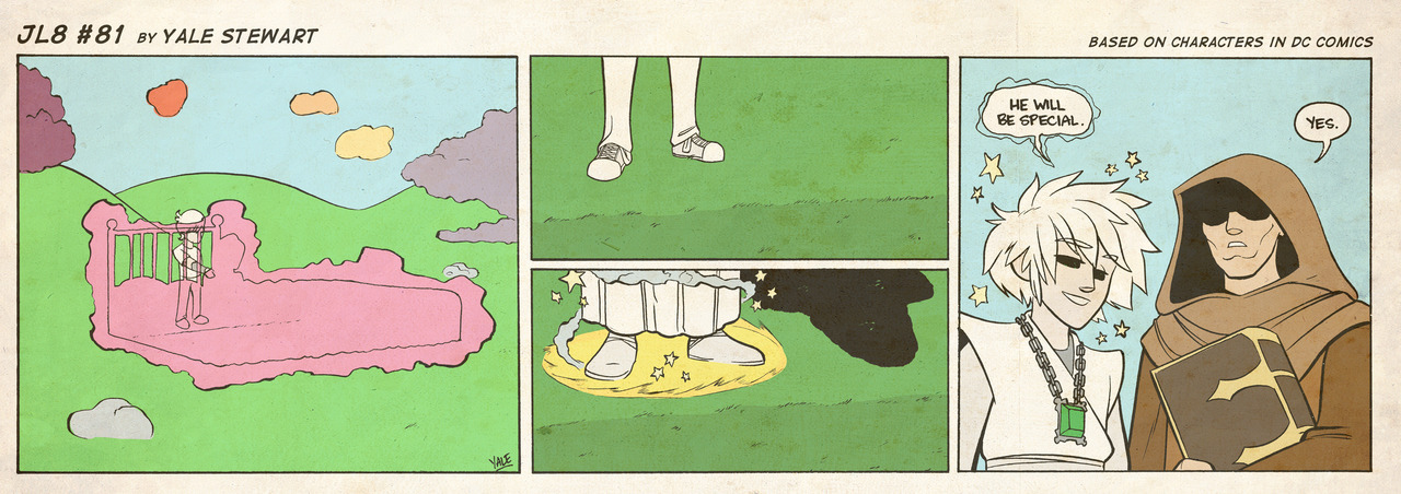 jl8comic:  JL8 #81 by Yale Stewart Based on characters in DC Comics. Creative content © Yale Stewart. Like the Facebook page here! Archive  Loving this comic more and more. <3 Dream and Destiny. ^^,