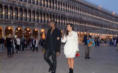 Kim Kardashian in Italy with Kanye West