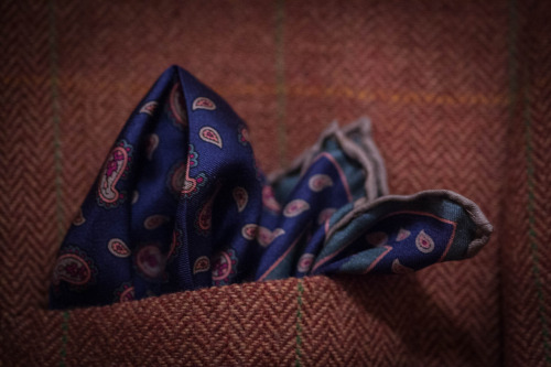 Pocket Square: Vintage Ashear paisley foulard, thrifted $2
