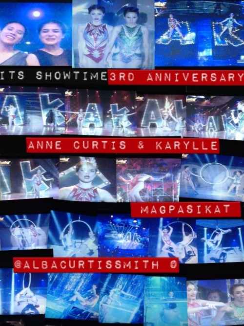 Its the 3rd Anniversary of Showtime and yes, Magpasikat again. The battle of the hosts and for Monday, its my idol Anne Curtis and the fabulous Karylle. I took some photos of their performance and it was breathtaking.