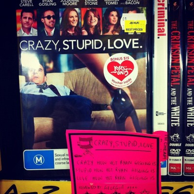 Crazy, Stupid, Love. Sounds like they featured the wrong star on the cover. - via geetakacs